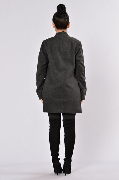 Trail Blazer Coat - Charcoal
