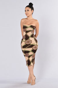 Villa Dress - Brown