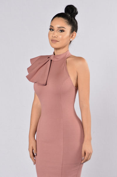 Ruffle Butter Dress - Mauve