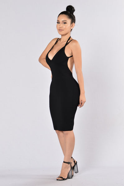 Popping Bottles Dress - Black