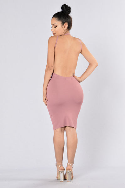 Popping Bottles Dress - Mauve