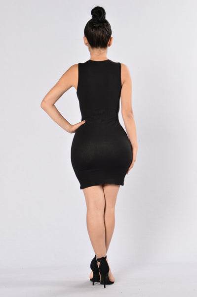 Knot For You Dress - Black