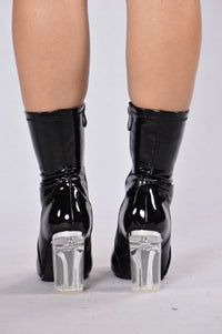 Penthouse Boot - Black Patent Angle 3