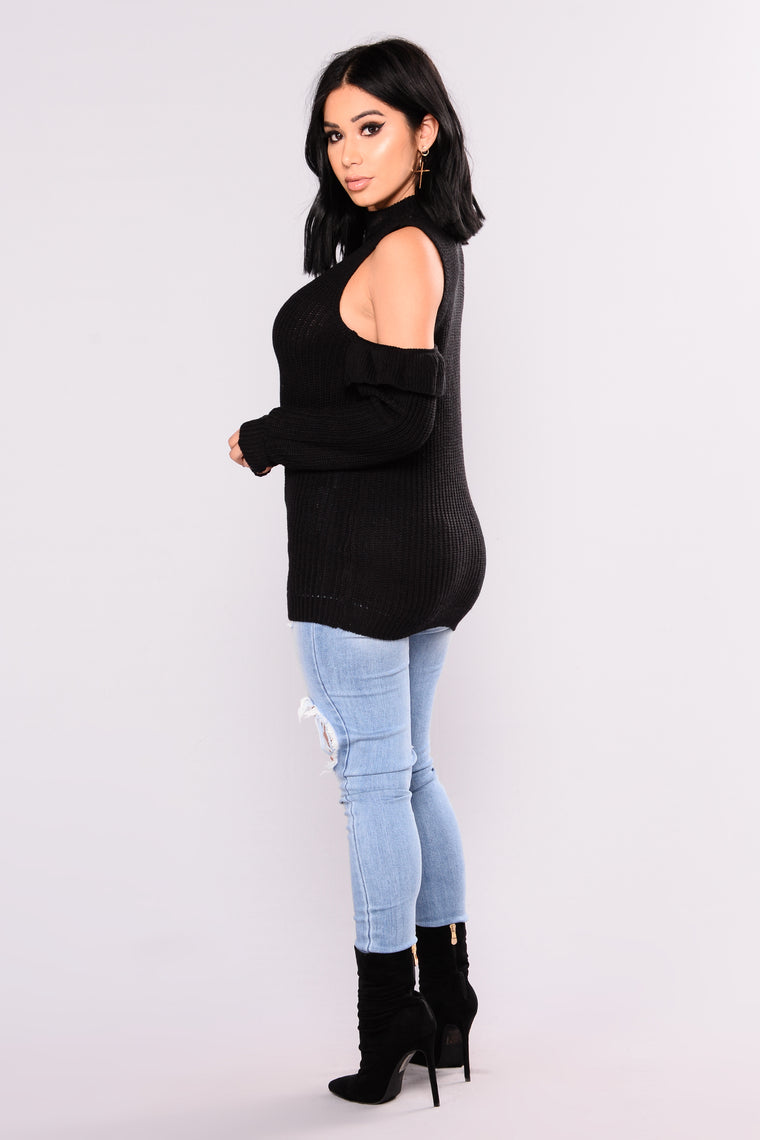 After Five Long Sleeve Sweater - Black
