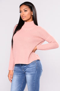 Most Requested Lace Up Sweater - Mauve