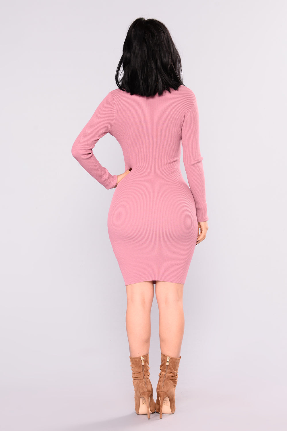 Sure Shot Knit Dress - Mauve
