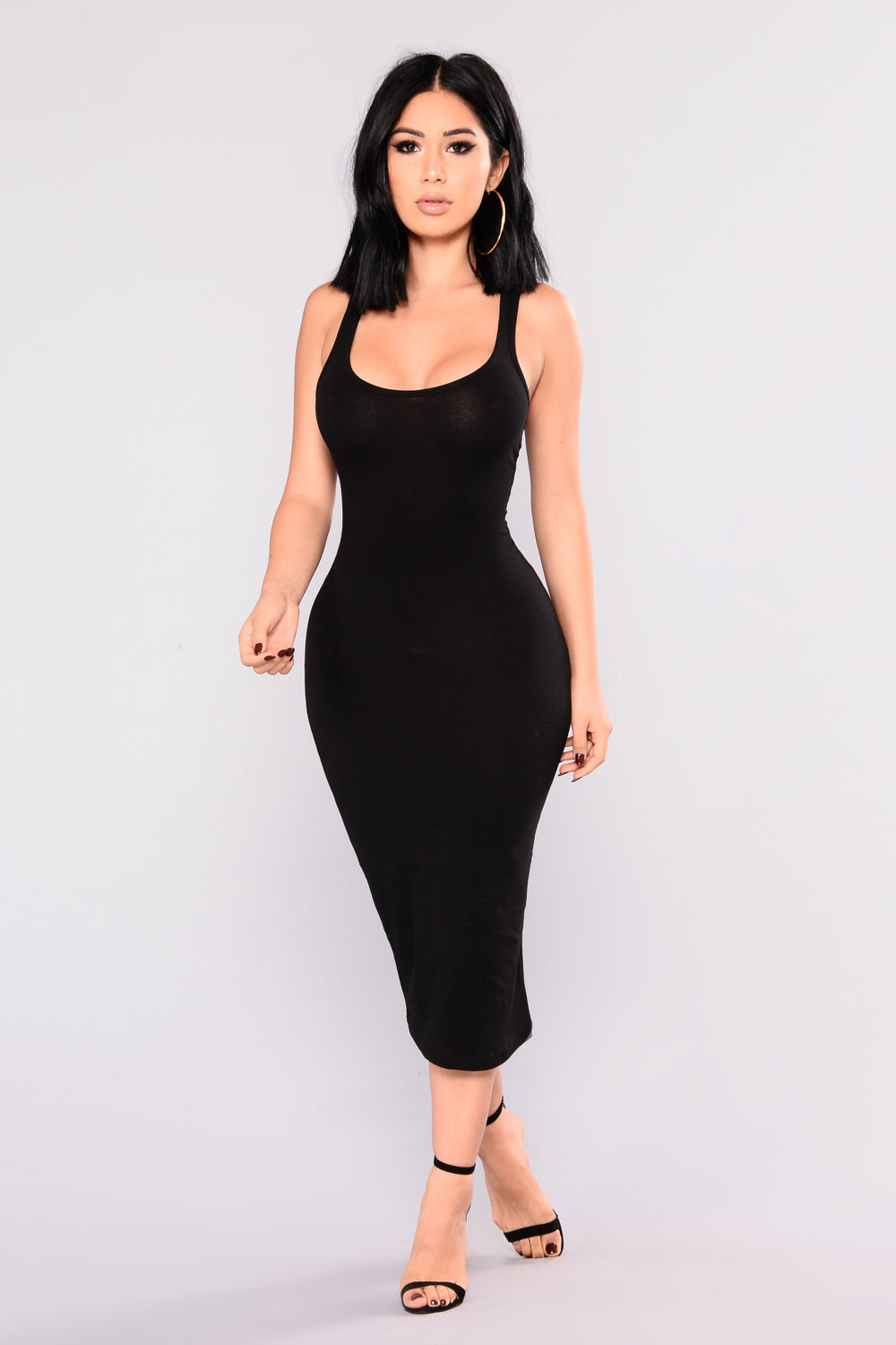 Breyanda Midi Dress -  Black