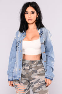 Cooler Than Cool Denim Jacket - Medium Wash