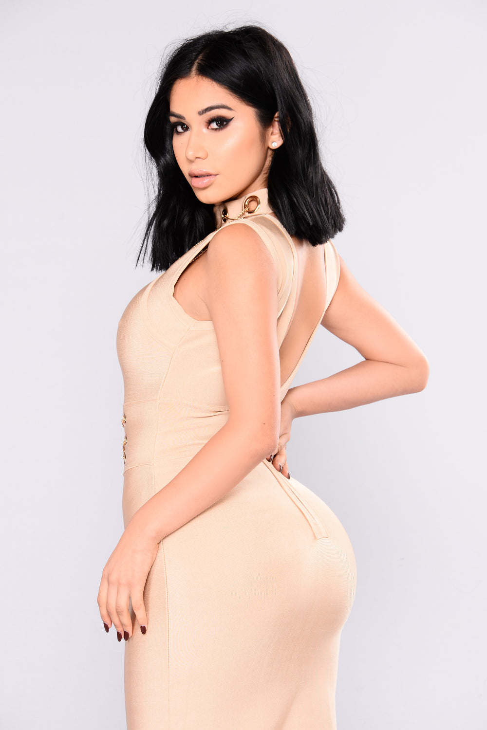 Change This Love Bandage Dress - Mocha