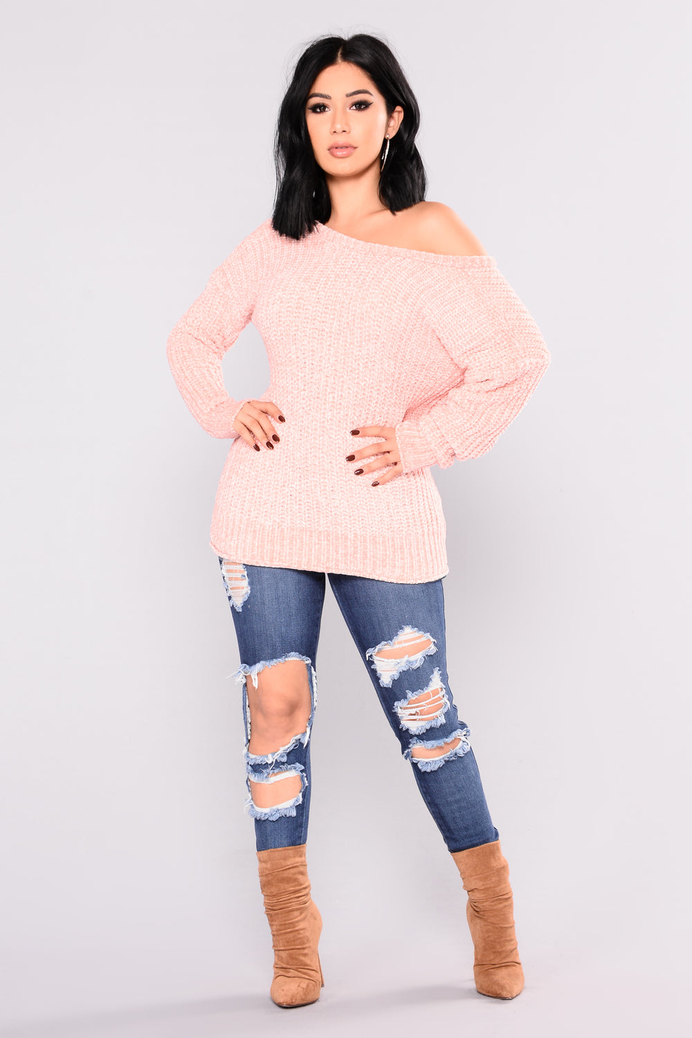 Rosalina Sweater- Blush