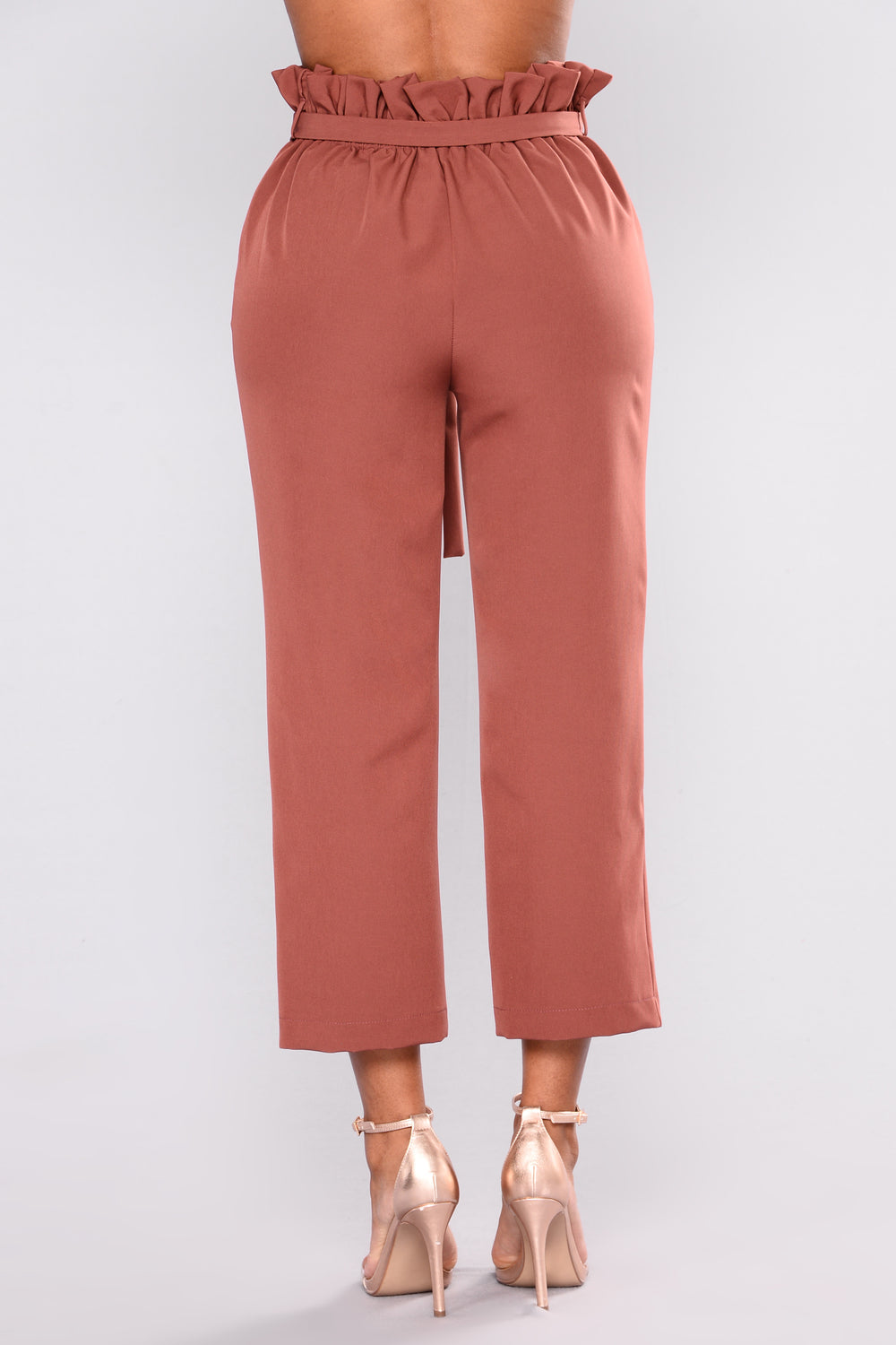 High Limit Waist Tie Pants -  Marsala