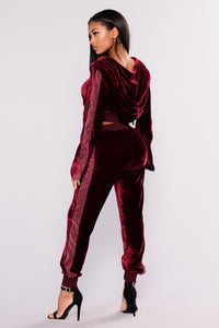 Velour Me Up Jacket - Wine