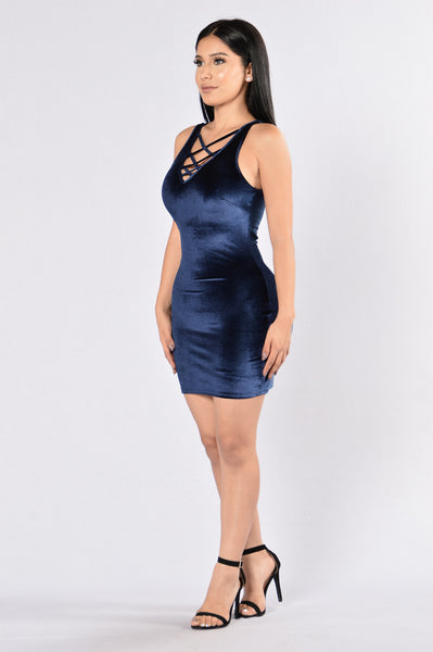 In His Mind Dress - Navy