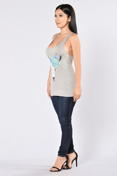 Desert Valley Tank - Heather Grey