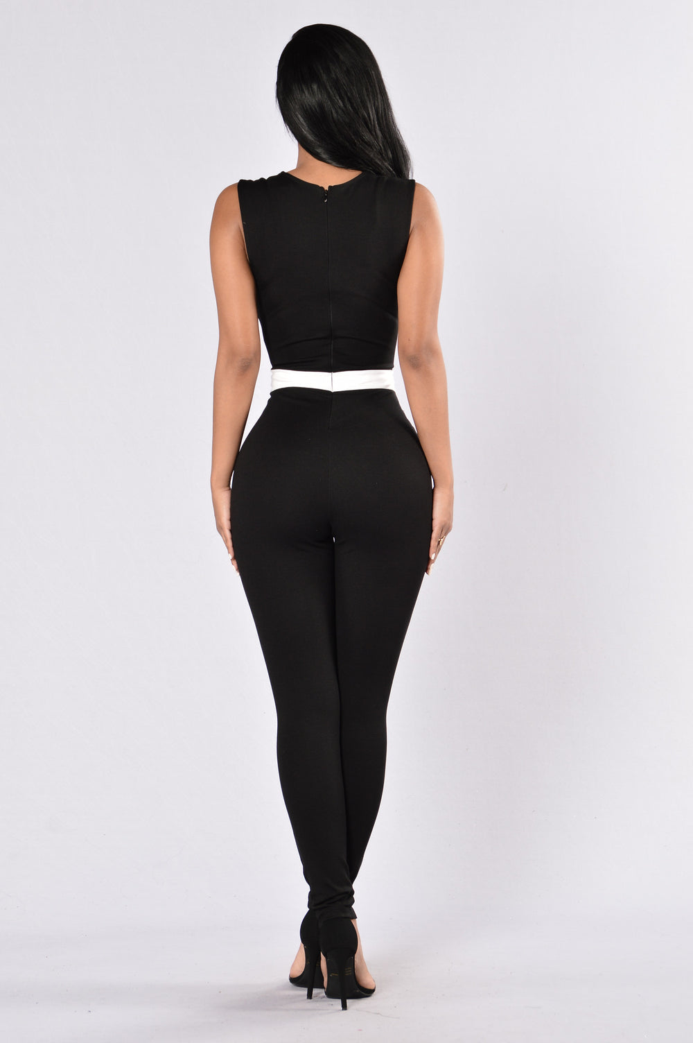 Libation Jumpsuit - Black/White