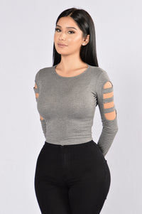 Sideways Top - Heather Grey