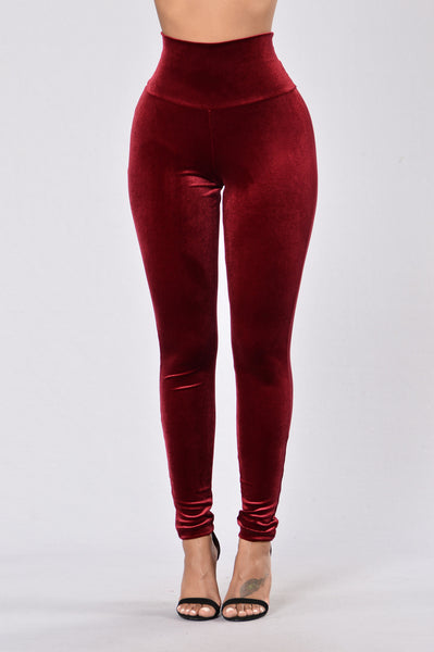 Nights Like This Leggings - Burgundy