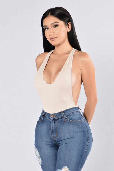 Time After Time Bodysuit - Taupe