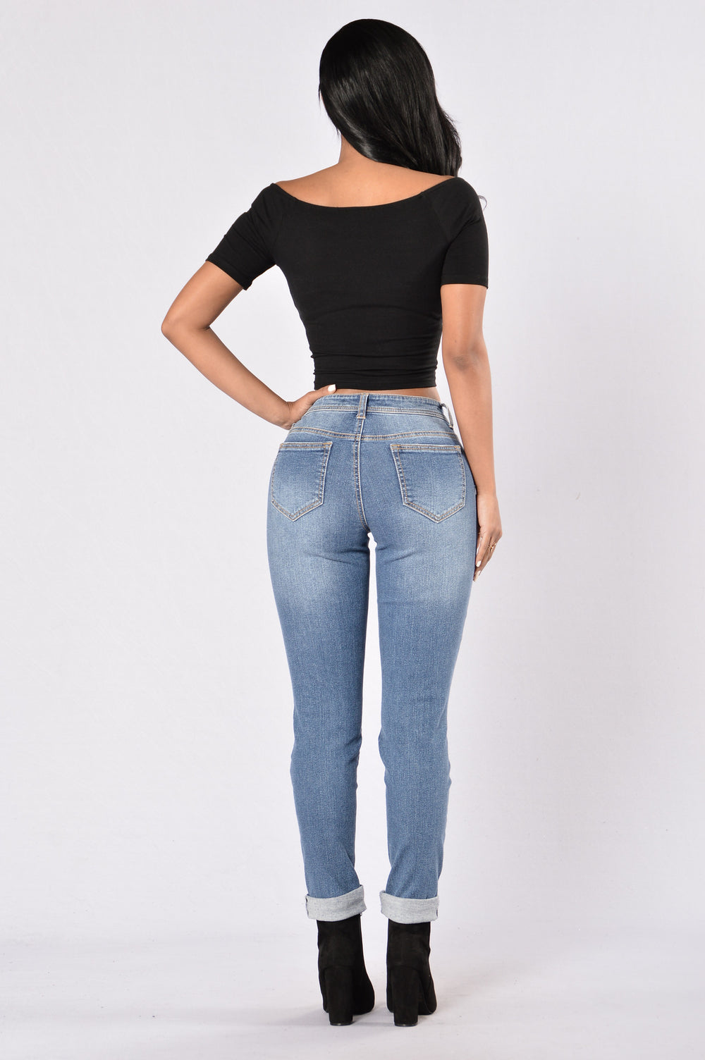 Road Less Traveled Boyfriend Jeans - Medium Wash