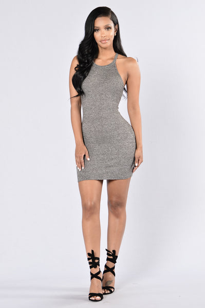Casual Day Dress - Charcoal