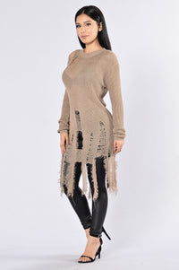 Still Hot Sweater - Taupe
