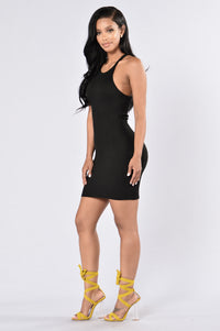 Casual Day Dress - Black