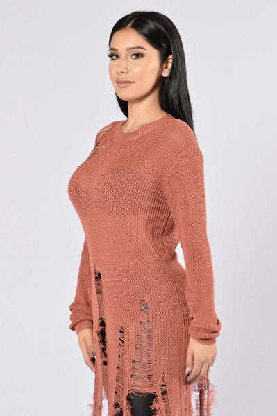 Still Hot Sweater - Burgundy
