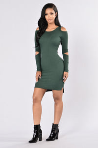 Friends with Benefits Dress - Hunter Green