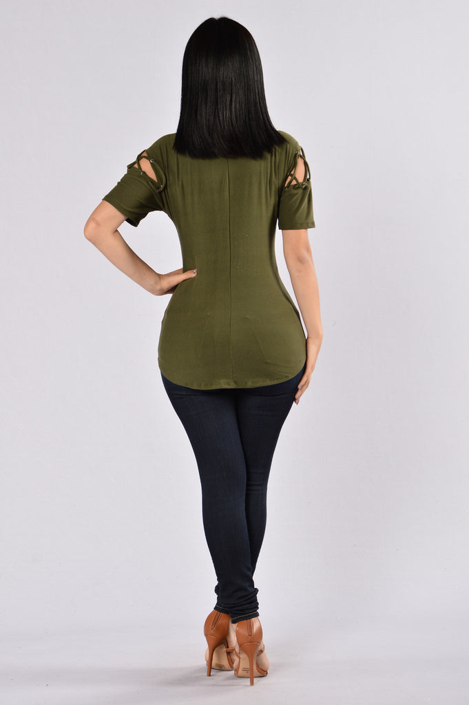 Needle and Thread Top - Olive