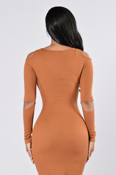 Friends with Benefits Dress - Cognac