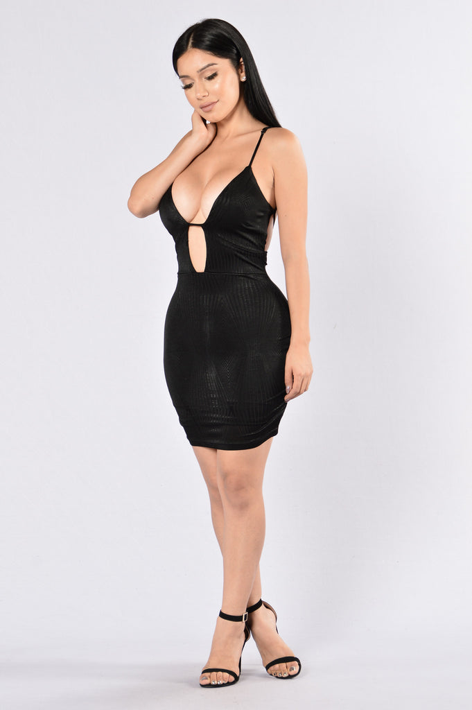 Strapped Up Dress - Black
