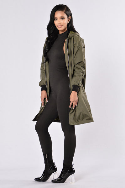 Let It Rain Jacket - Olive