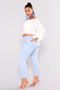 Matti Off Shoulder Top - Ivory