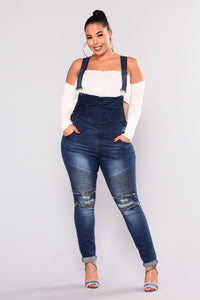 All Over Me Overalls - Dark Blue