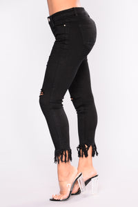 End Of The Road Ankle Jeans - Black
