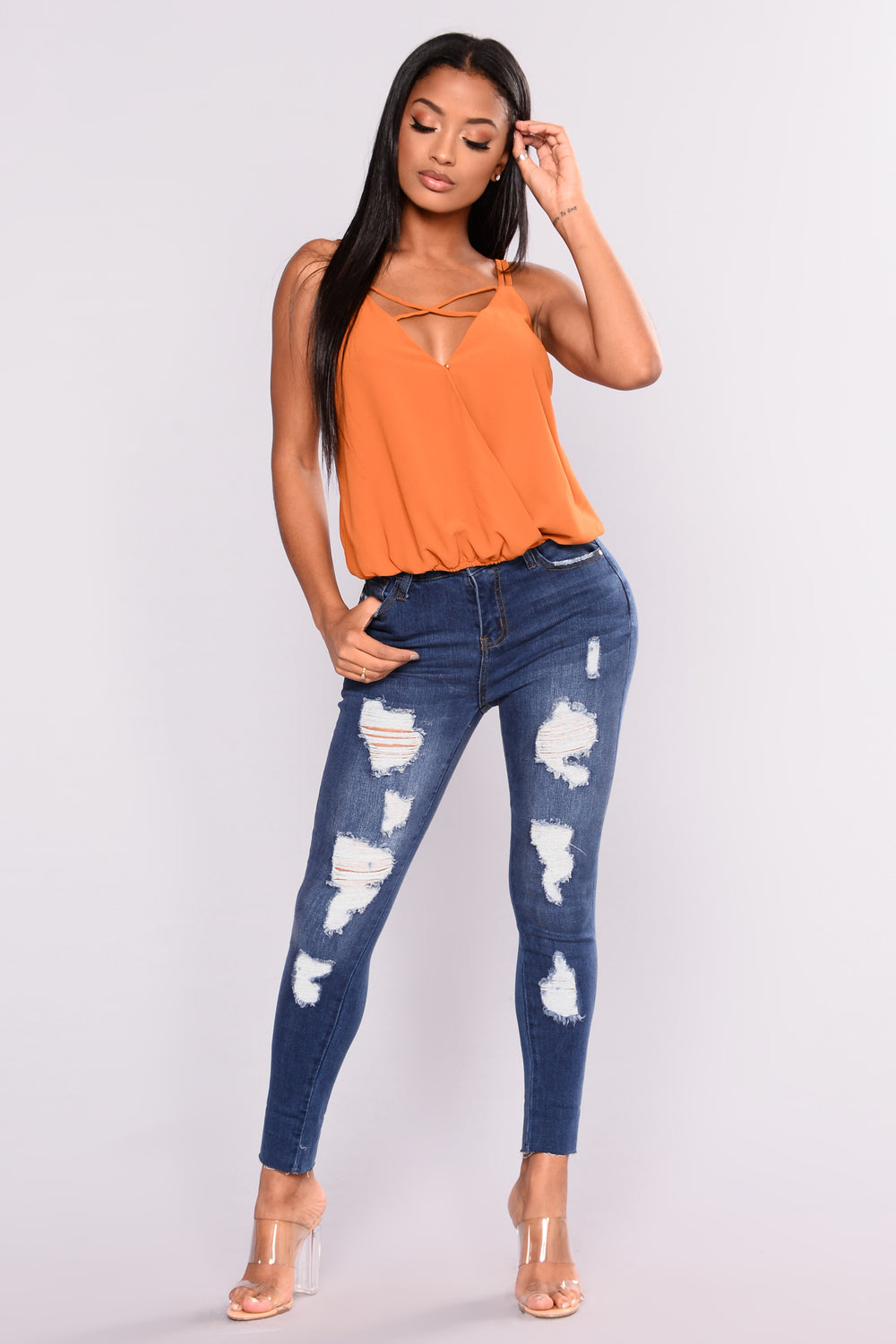 Keep It On The DL Ankle Jeans - Dark Denim