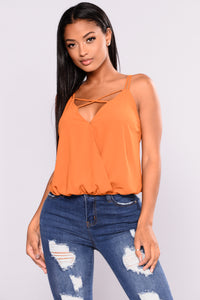 High Demand Surplice Top - Mustard