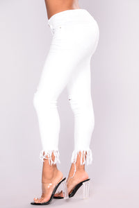 End Of The Road Ankle Jeans - White