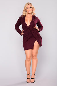 Sugar Frenzy Dress - Eggplant Angle 6