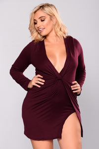 Sugar Frenzy Dress - Eggplant Angle 8