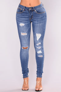 Silvana Skinny Jeans - Medium Blue Wash