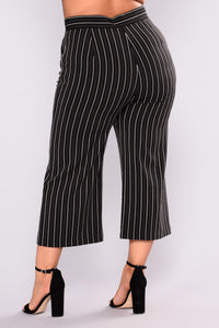 Kourtney Culotte Pants - Black/White