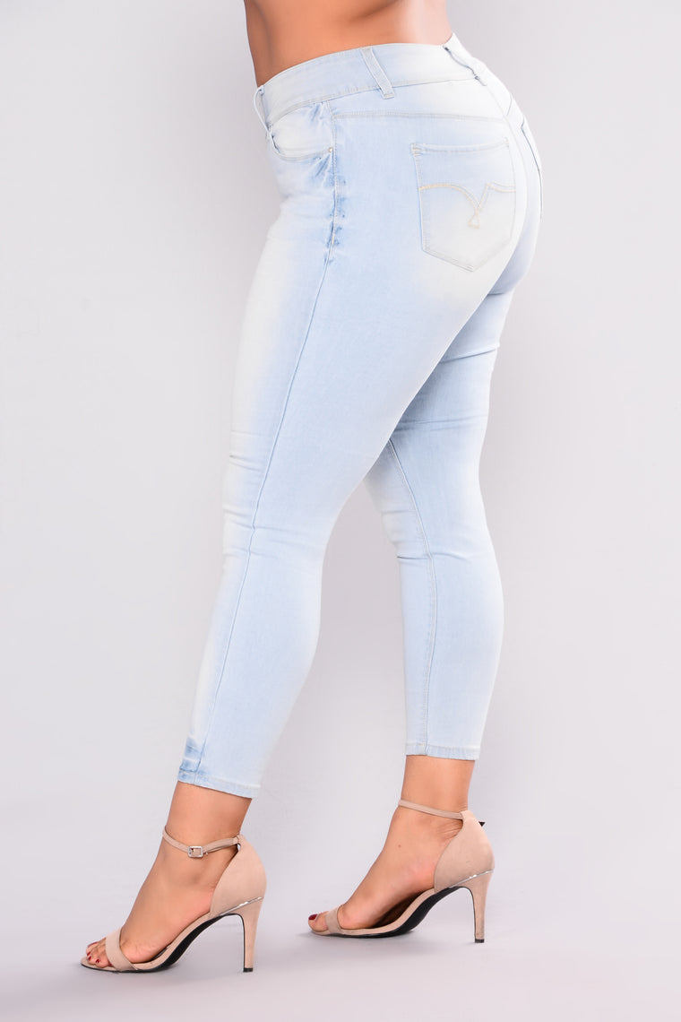 Solange Ankle Jeans - Light Blue