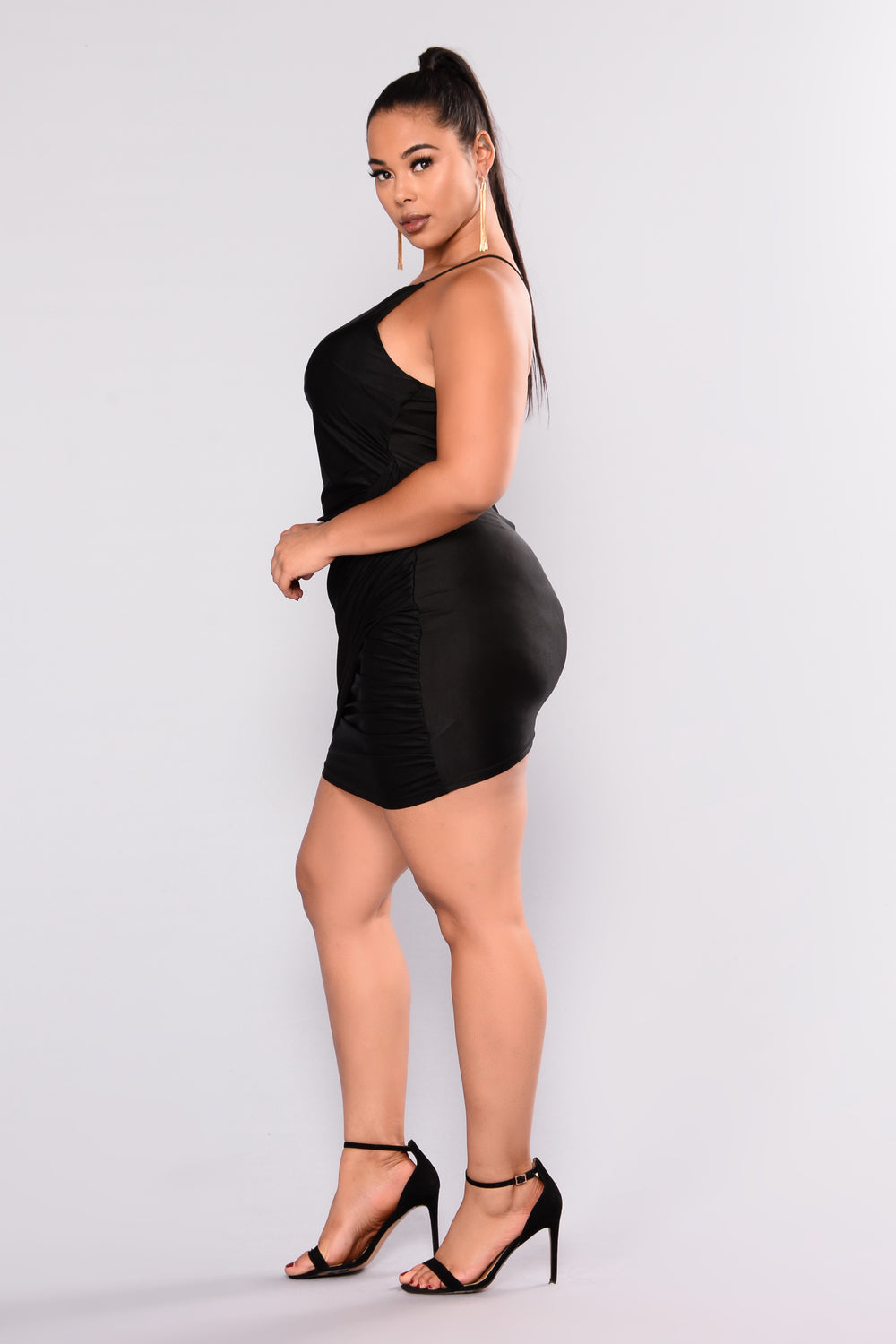 Bottle Service Mini Dress - Black
