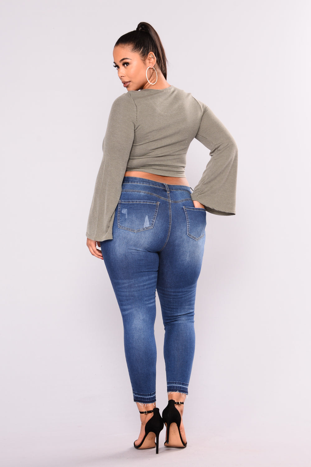 Double Love High Rise Jeans - Medium Denim