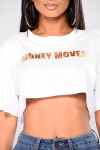 Money Moves Graphic Tee - White Angle 2