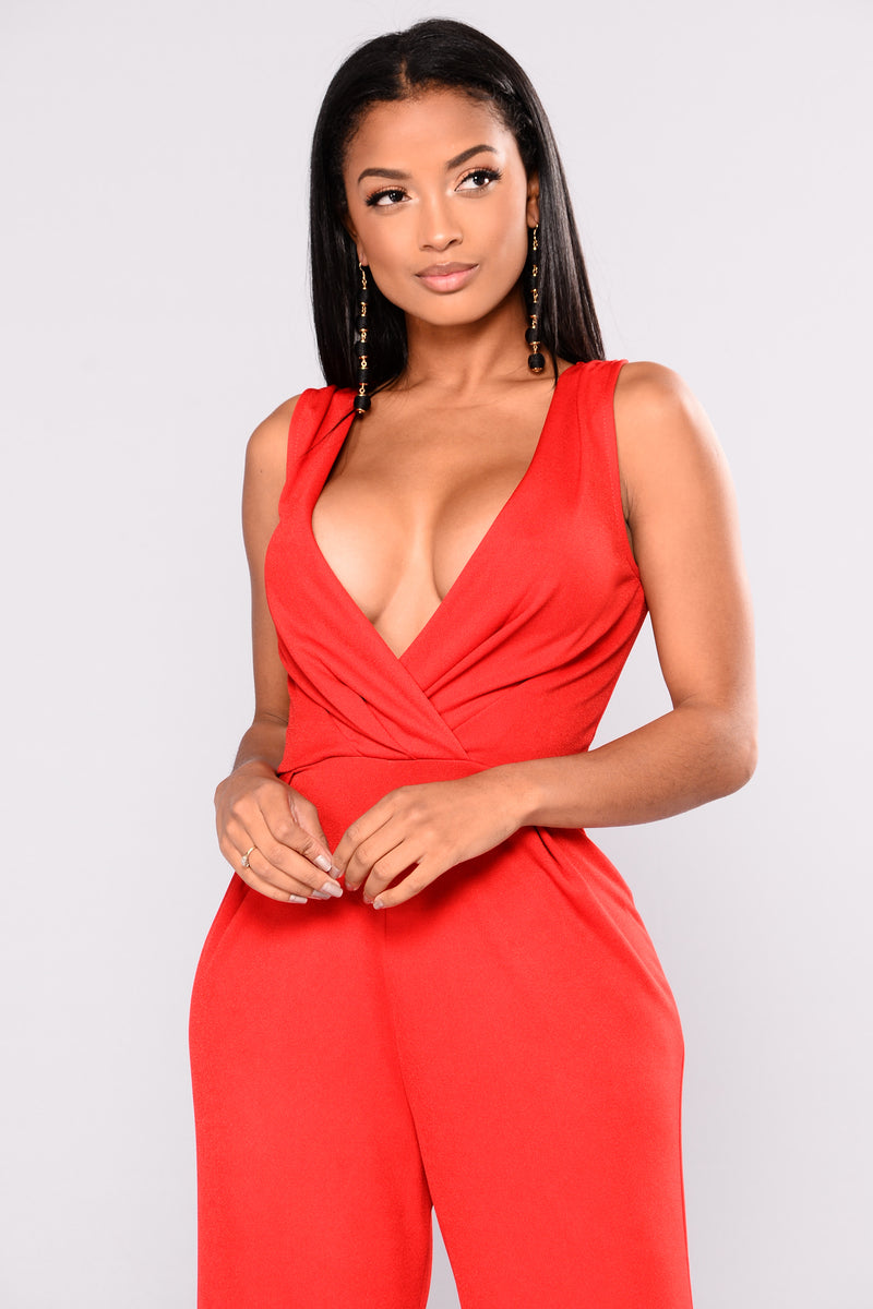 Budapest Jumpsuit - Red