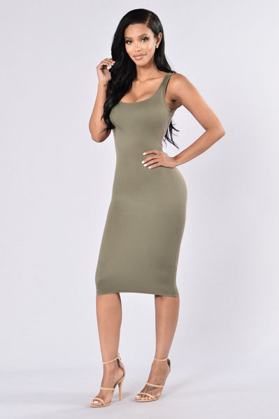Check This Out Dress - Olive