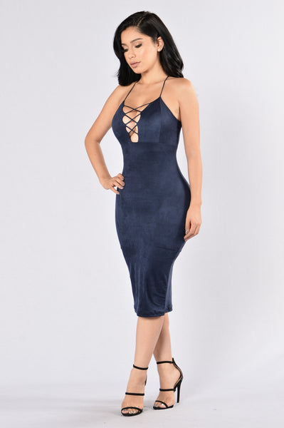 Play The Odds Dress - Navy