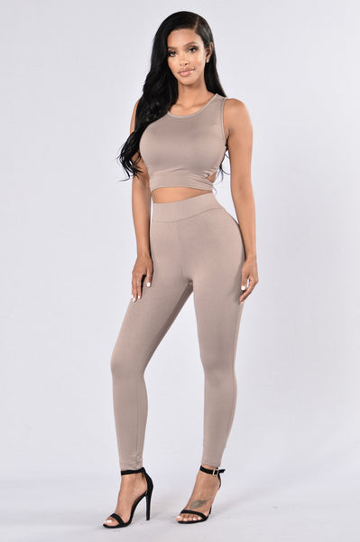 Semi Charmed Leggings - Mocha